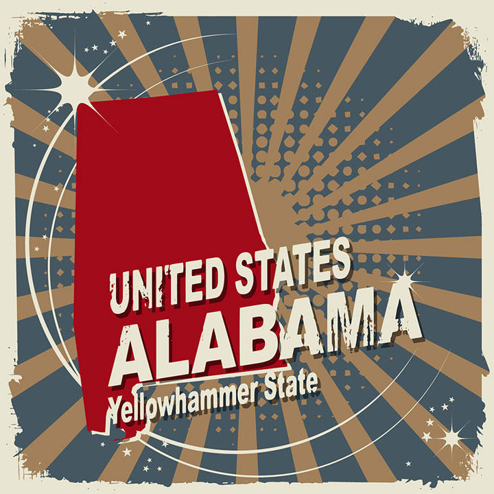 abstract alabama map